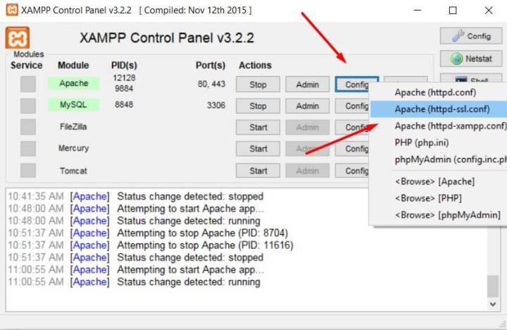 Apache httpd-ssl.conf