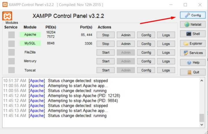 Control Panel Configuration