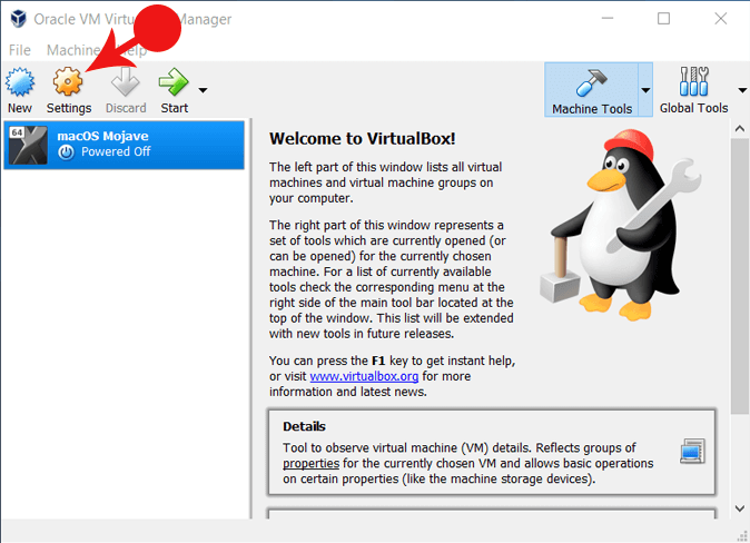 VirtualBox Setting For mouse