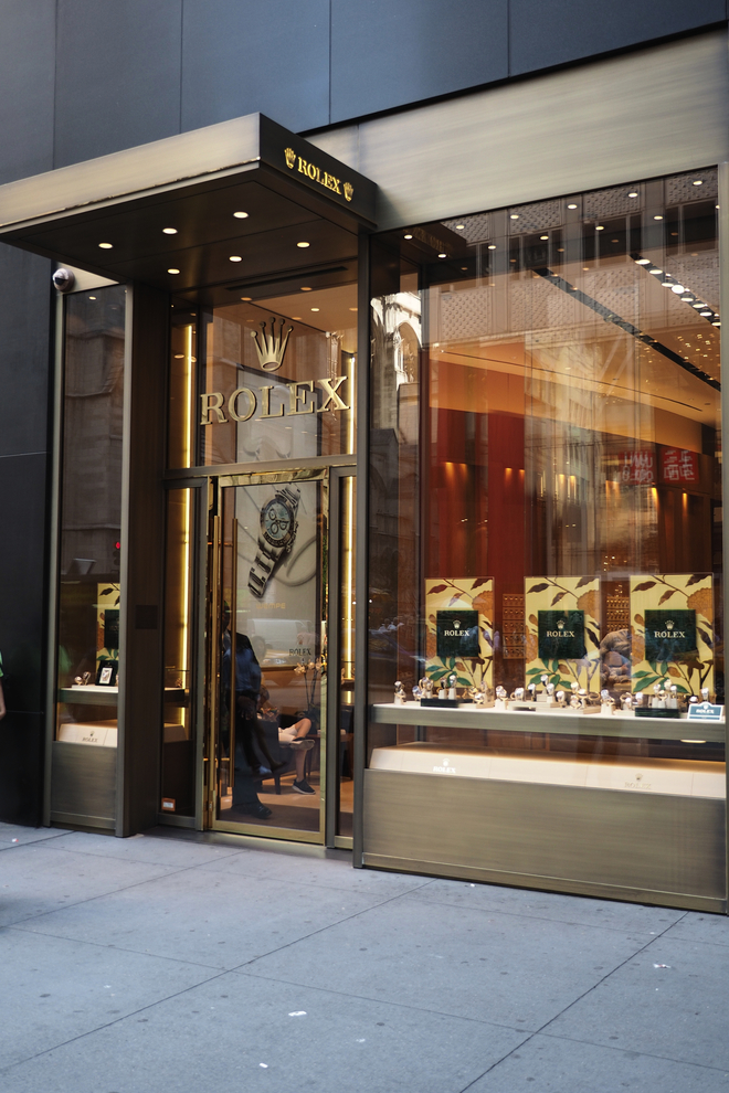 Located on the street level in the Rolex building, this boutique is operated by Wempe. (665 5th Ave)