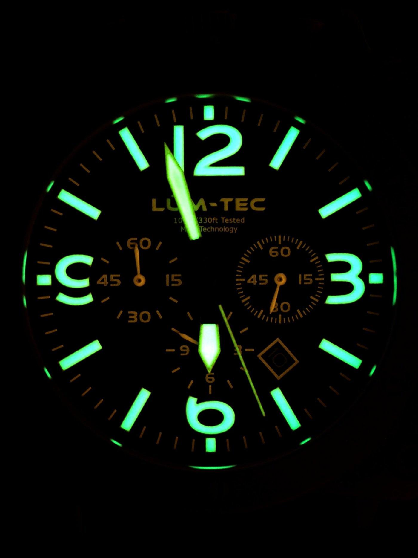 Lum-Tec Bull 45 PVD Chronograph