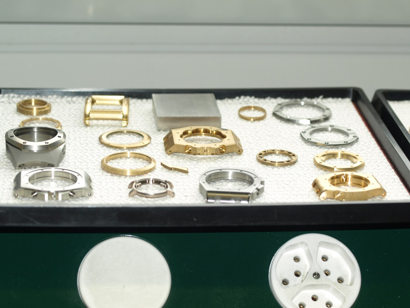 Royal Oak cases and bezels ready to go to quality control and finishing departments 2009