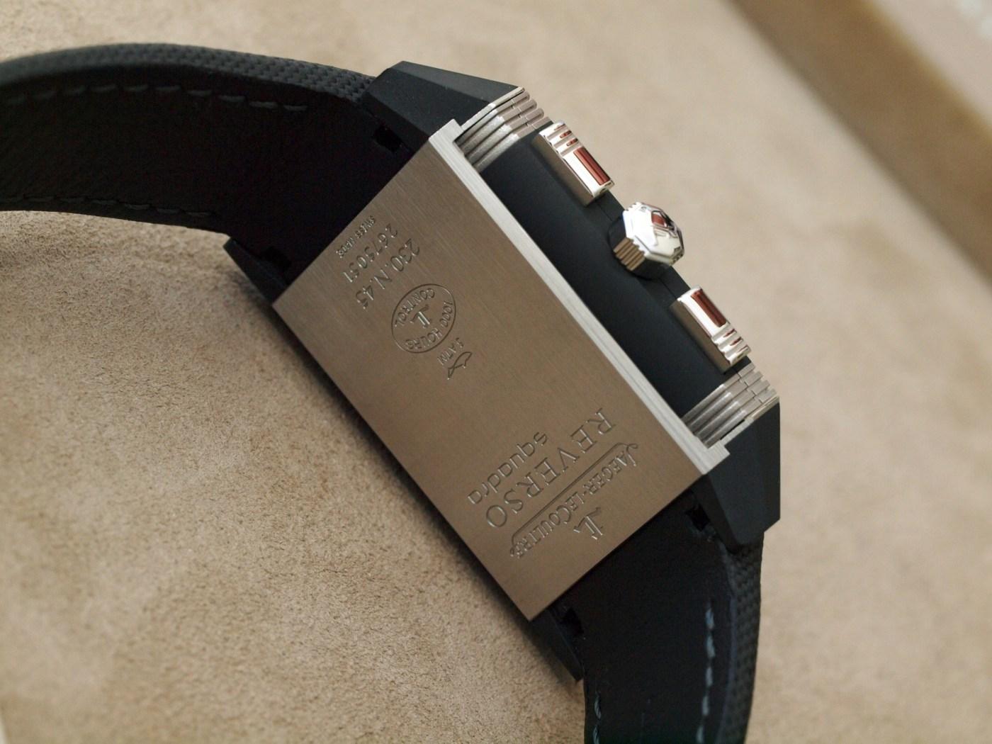 Jaeger-LeCoultre Reverso Squadra Chronograph GMT Palermo Open caseback