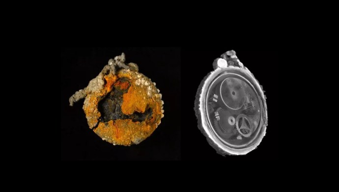 300 years old shipwreck pocketwatch