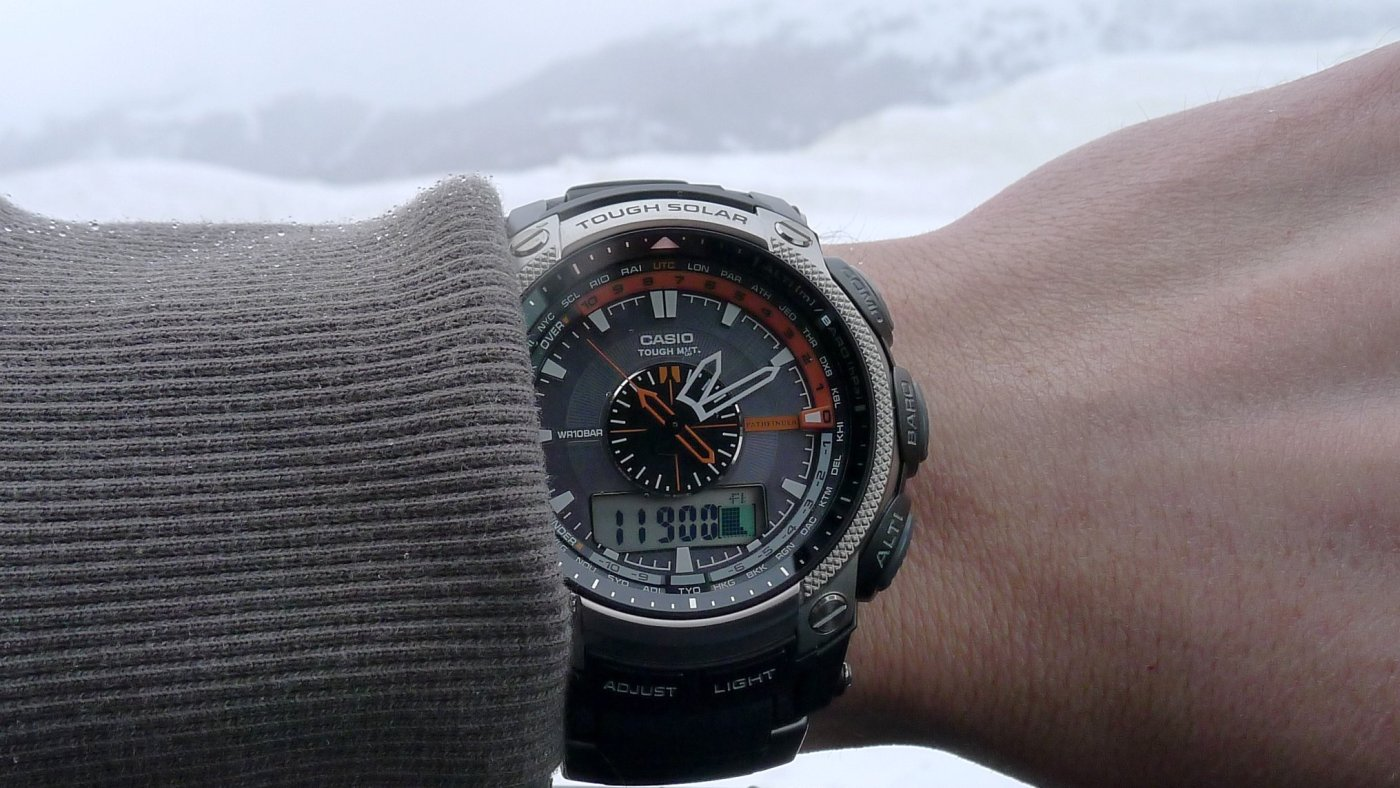 Casio Pathfinder at top of Loveland Pass