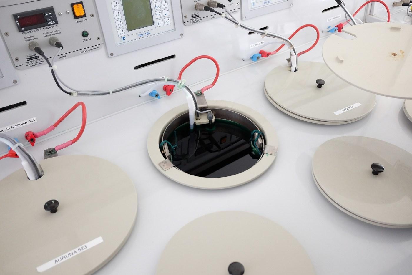 Armin Strom electro-plating baths