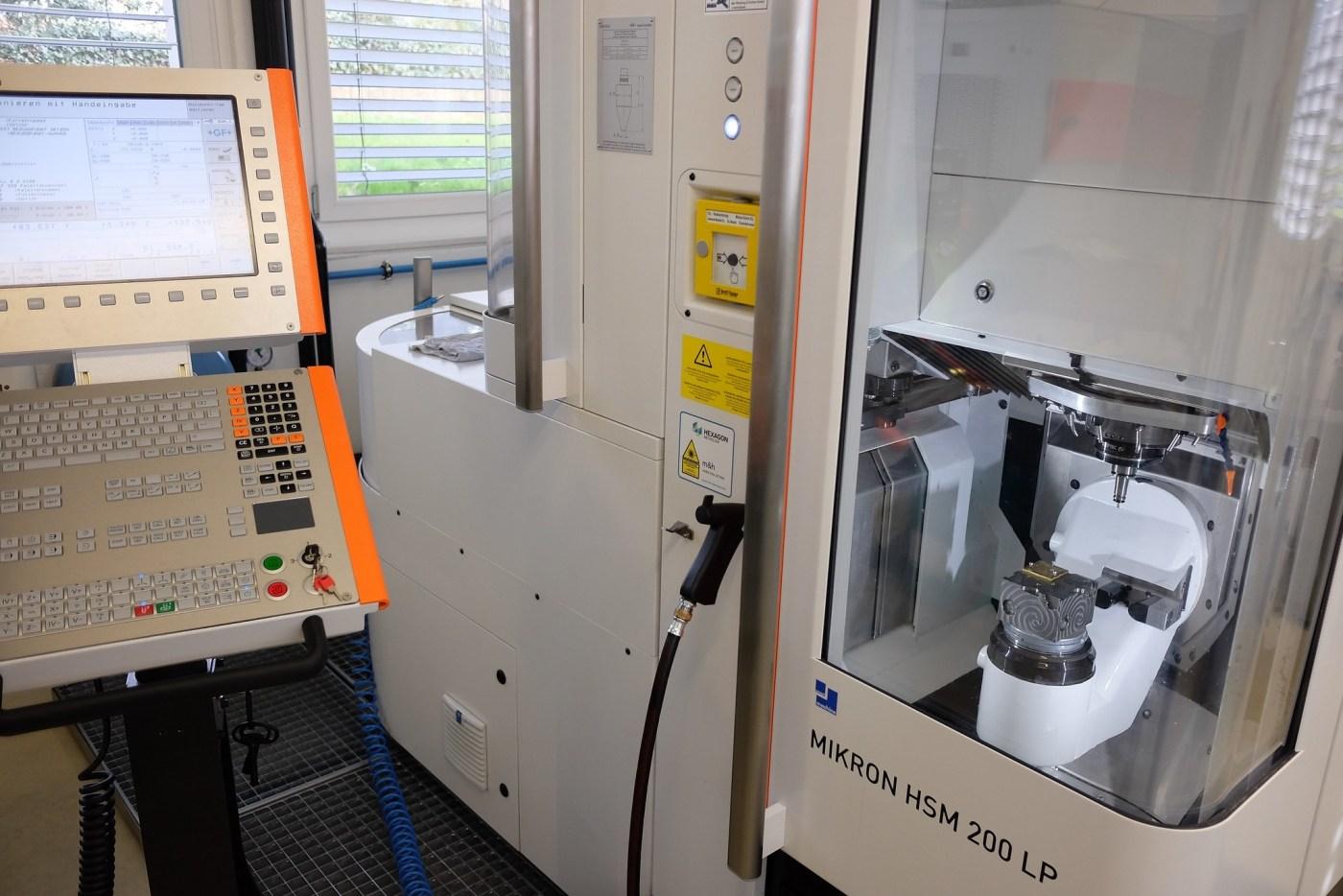 CNC machine at Armin Strom