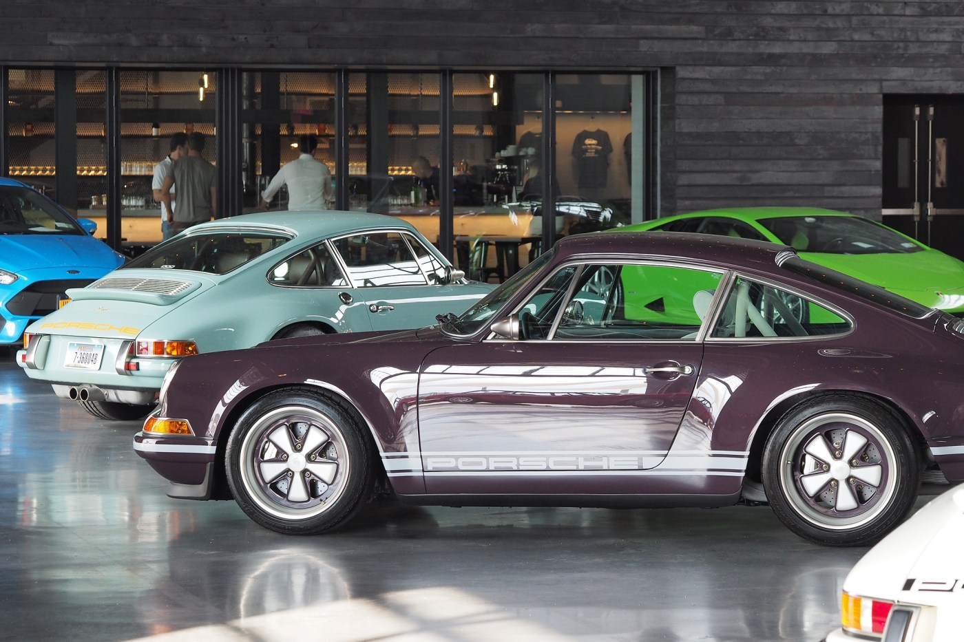 Multiple Singer Porsche 911s at Manhattan Classic Car Club