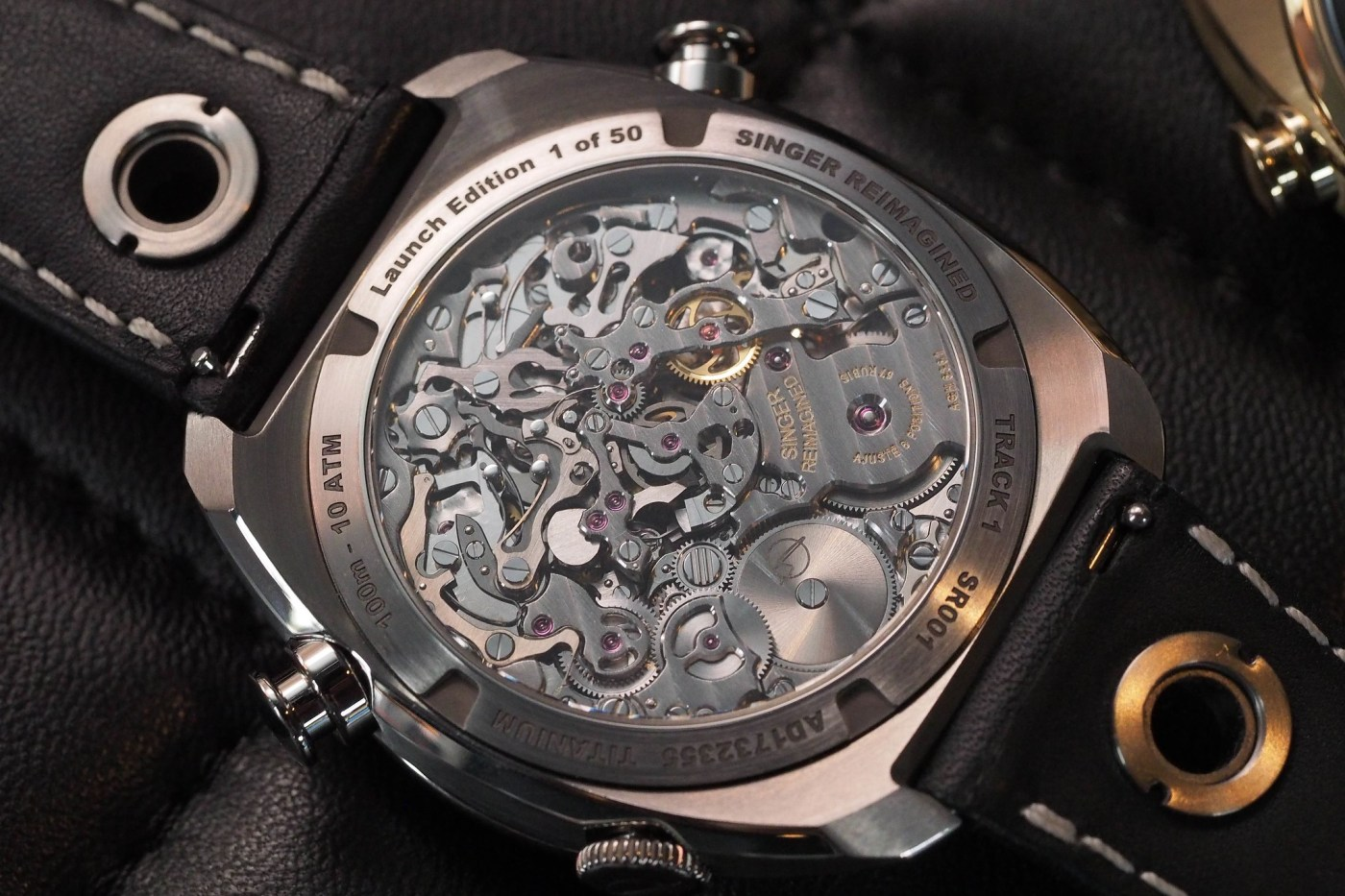 Singer Track 1 Launch and Geneva Editions caseback