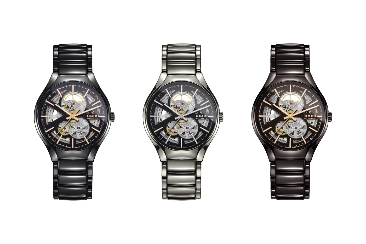 Rado True Open Heart Automatic all three versions