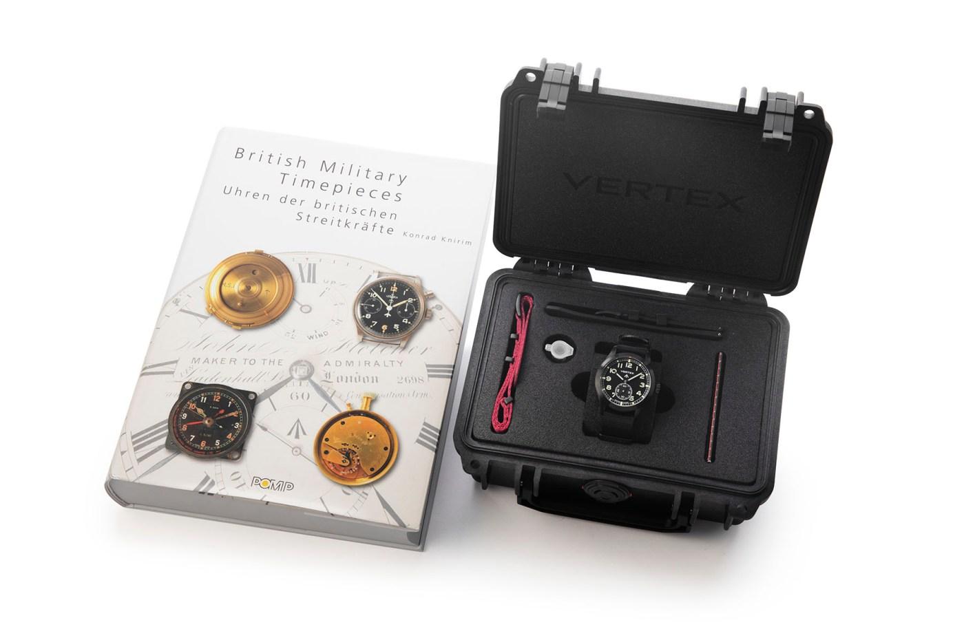 Vertex M100B case and book
