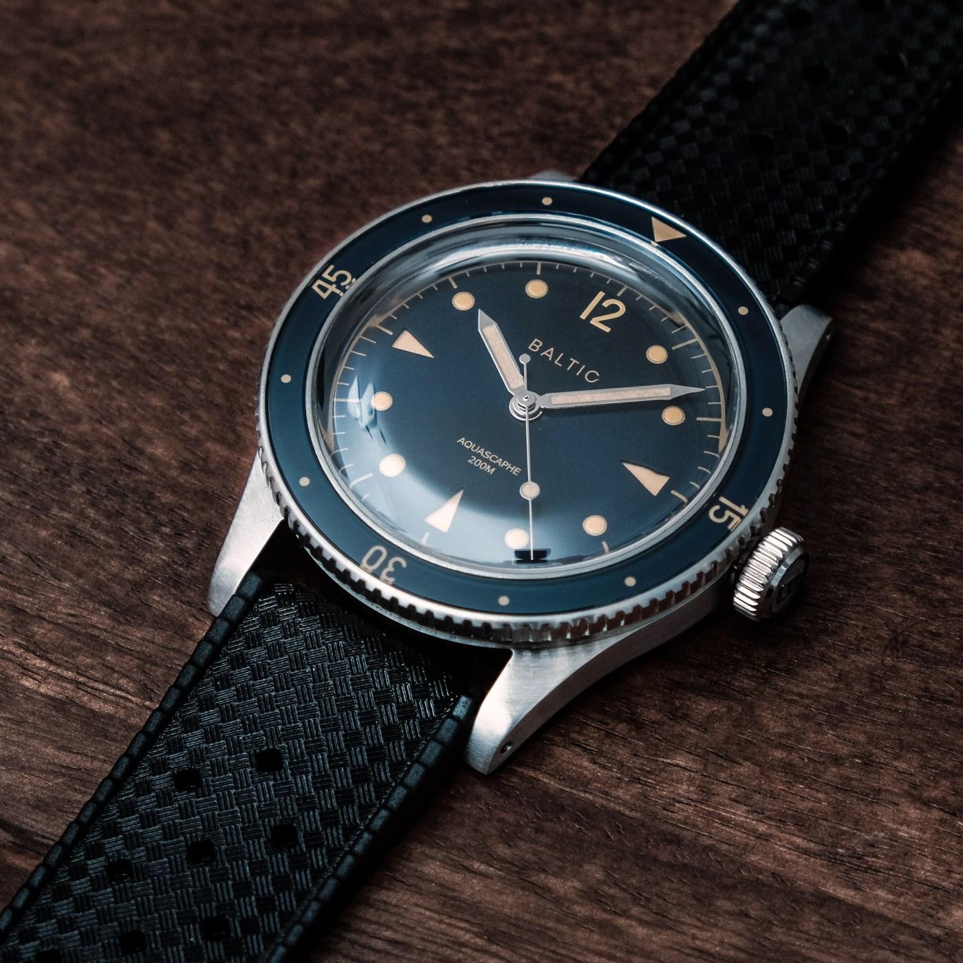 Baltic Aquascaphe blue gilt tropic dial