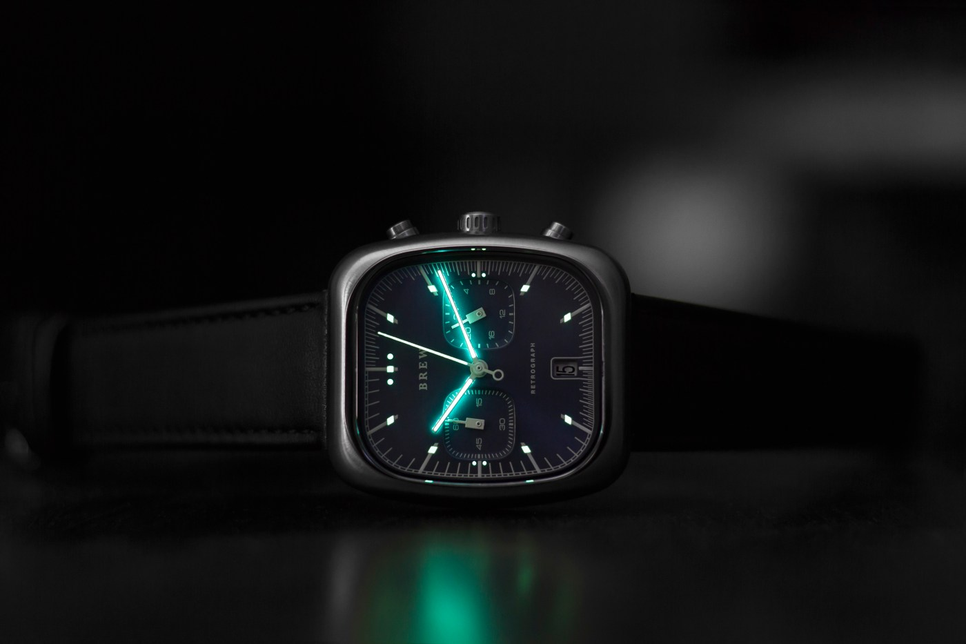 Brew Retrograph Lume Blue