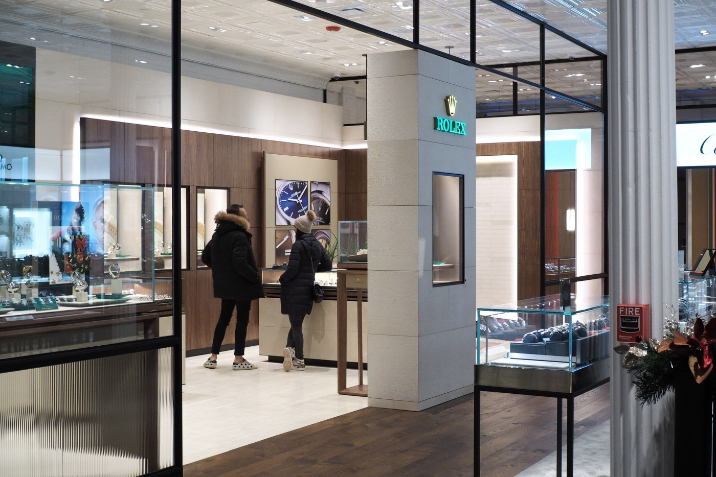 A huge Rolex in-store boutique