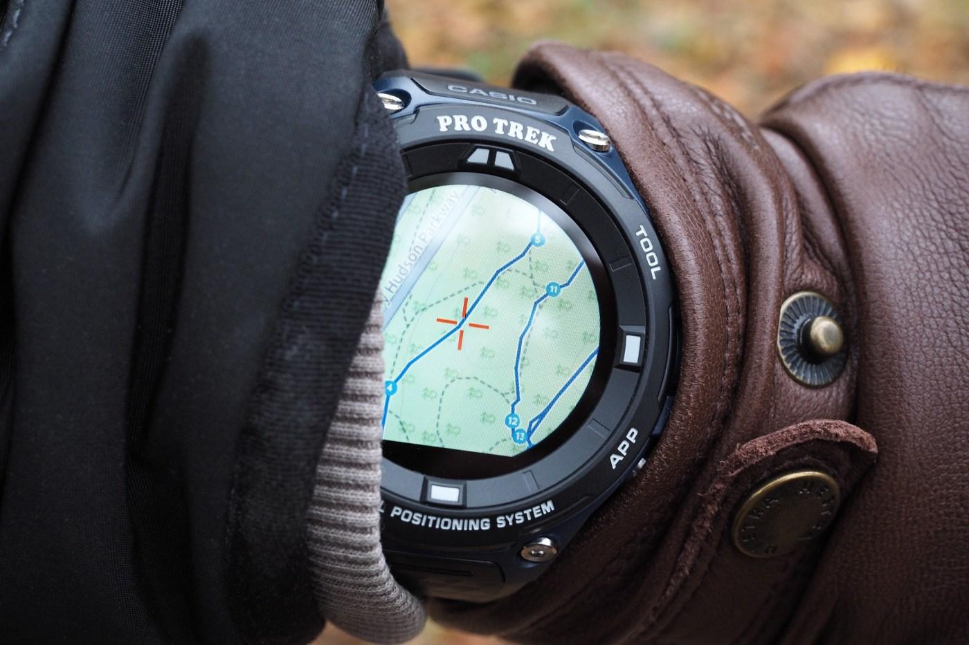 Casio Pro Trek Connected using GPS