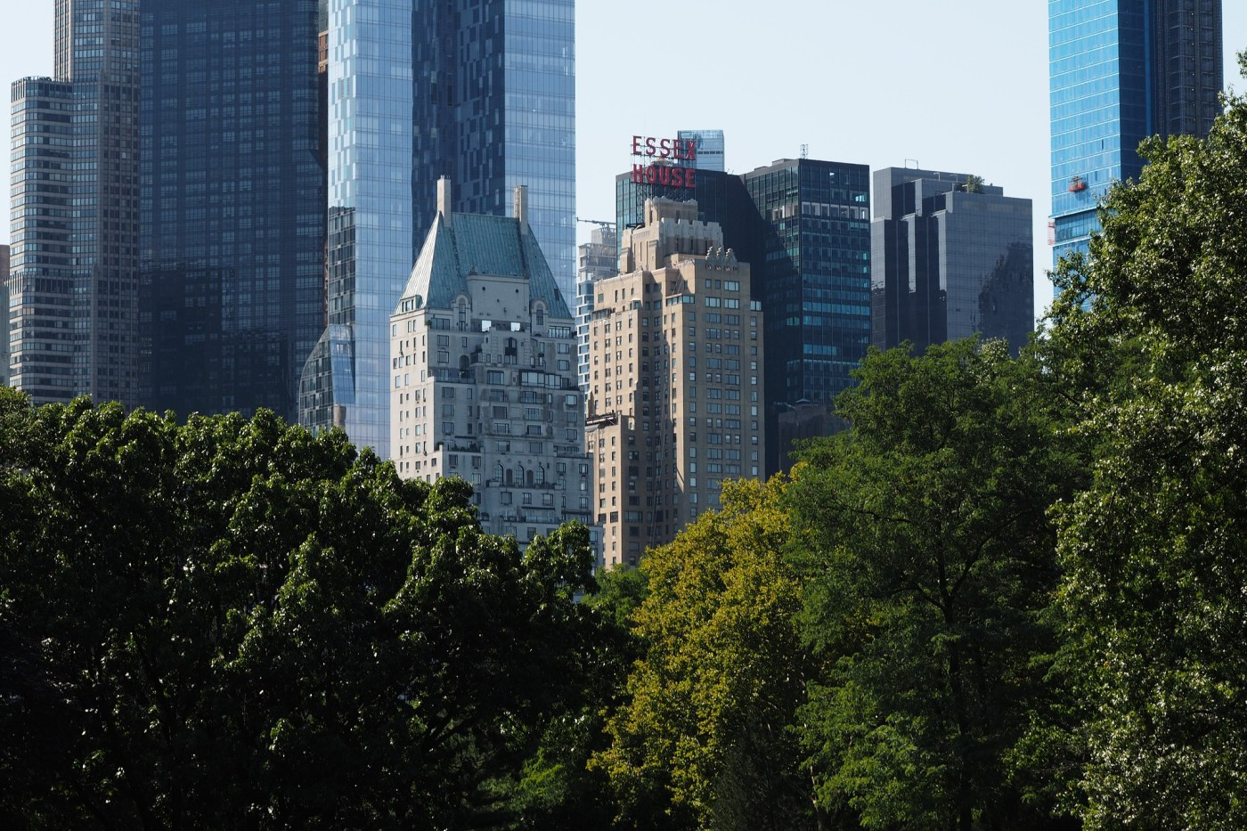 View of Central Park South from the park