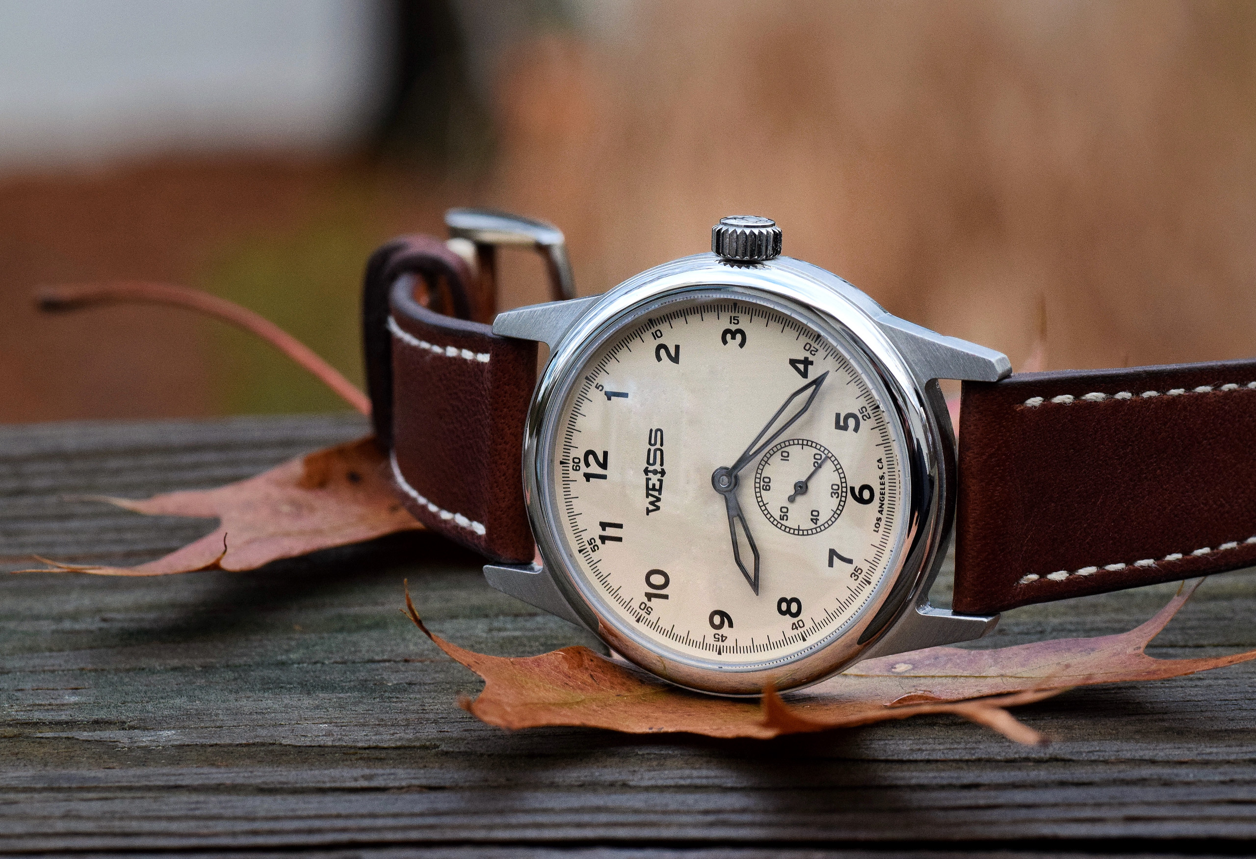 3323d55a2 Weiss 38 mm Special Issue Manual vs. 38 mm Automatic Issue Field Watch