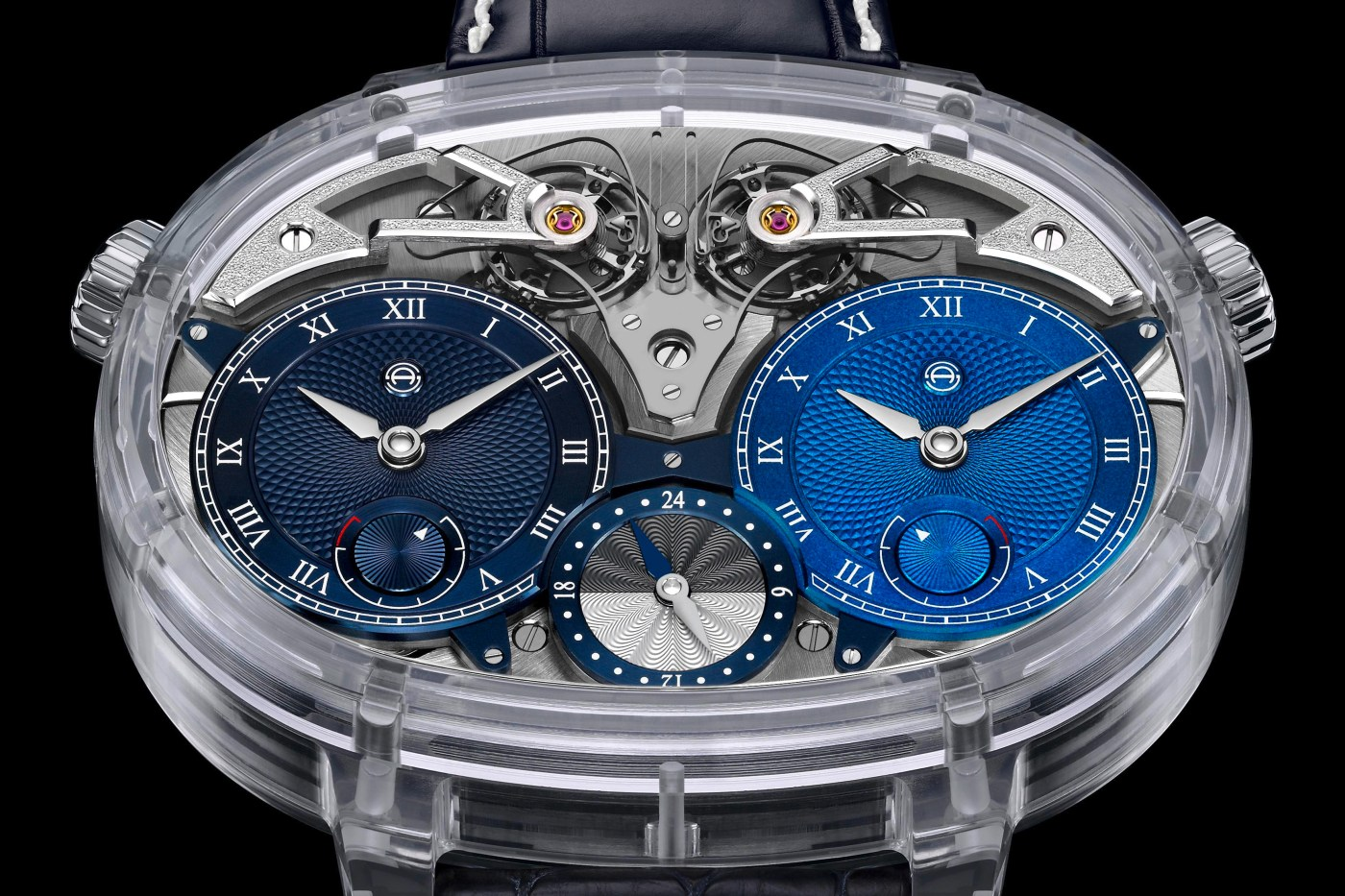 Armin Strom Dual Time Resonance Sapphire close-up