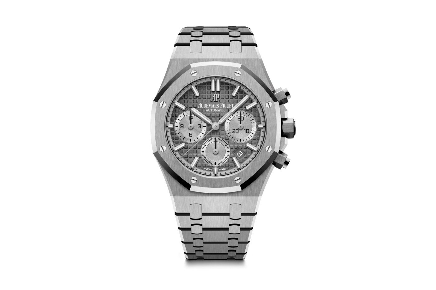 Audemars Piguet Royal Oak-Chronograph 38mm in steel with Ruthenium dial