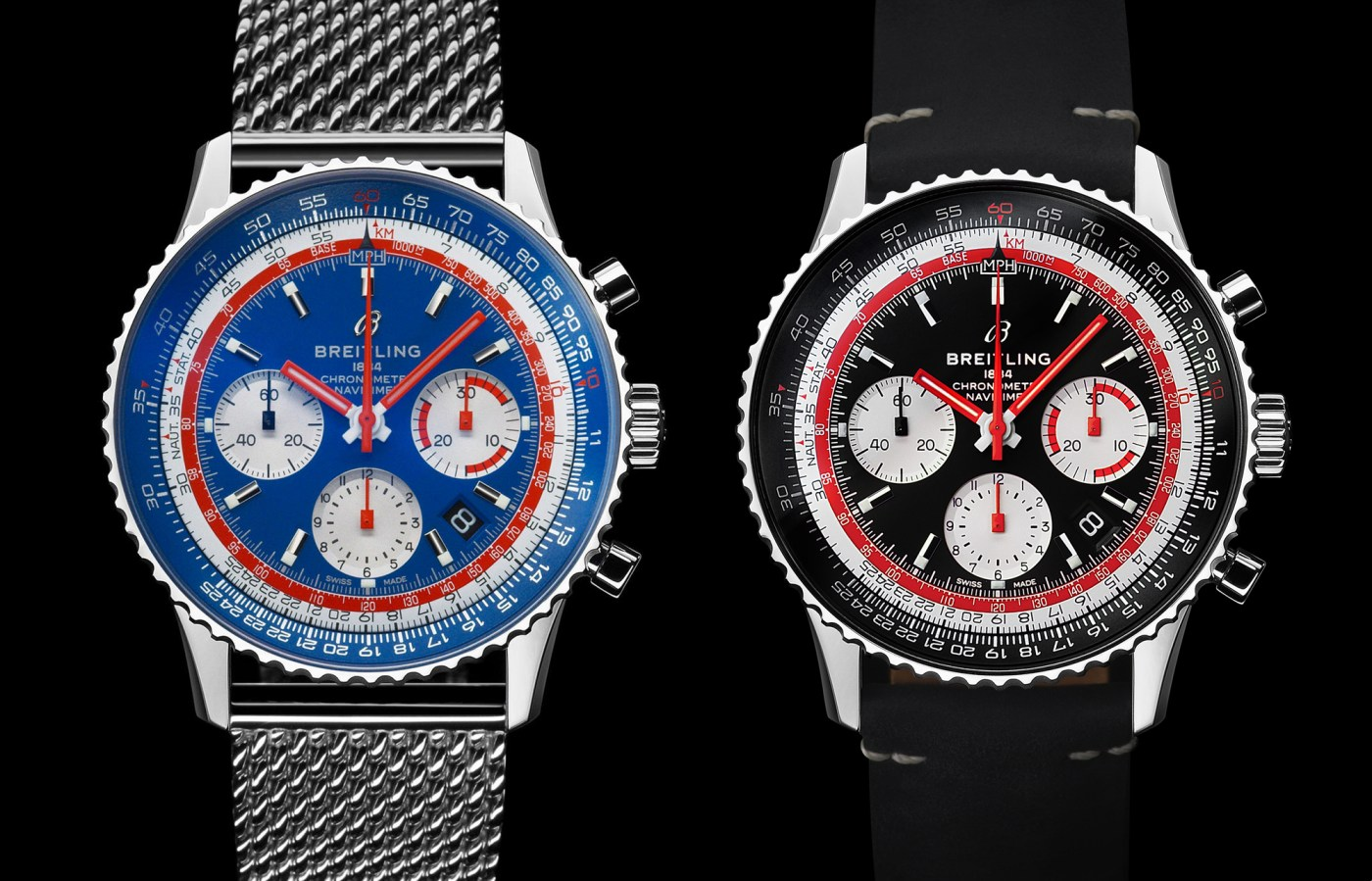 Breitling Navitimer 1 B01 Chronograph 43 Pan Am and SwissAir Editions
