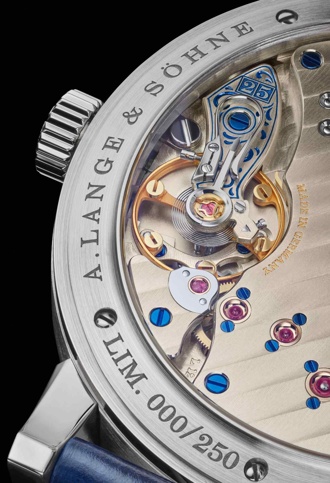 Lange 1 25th Anniversary oscillator close-up