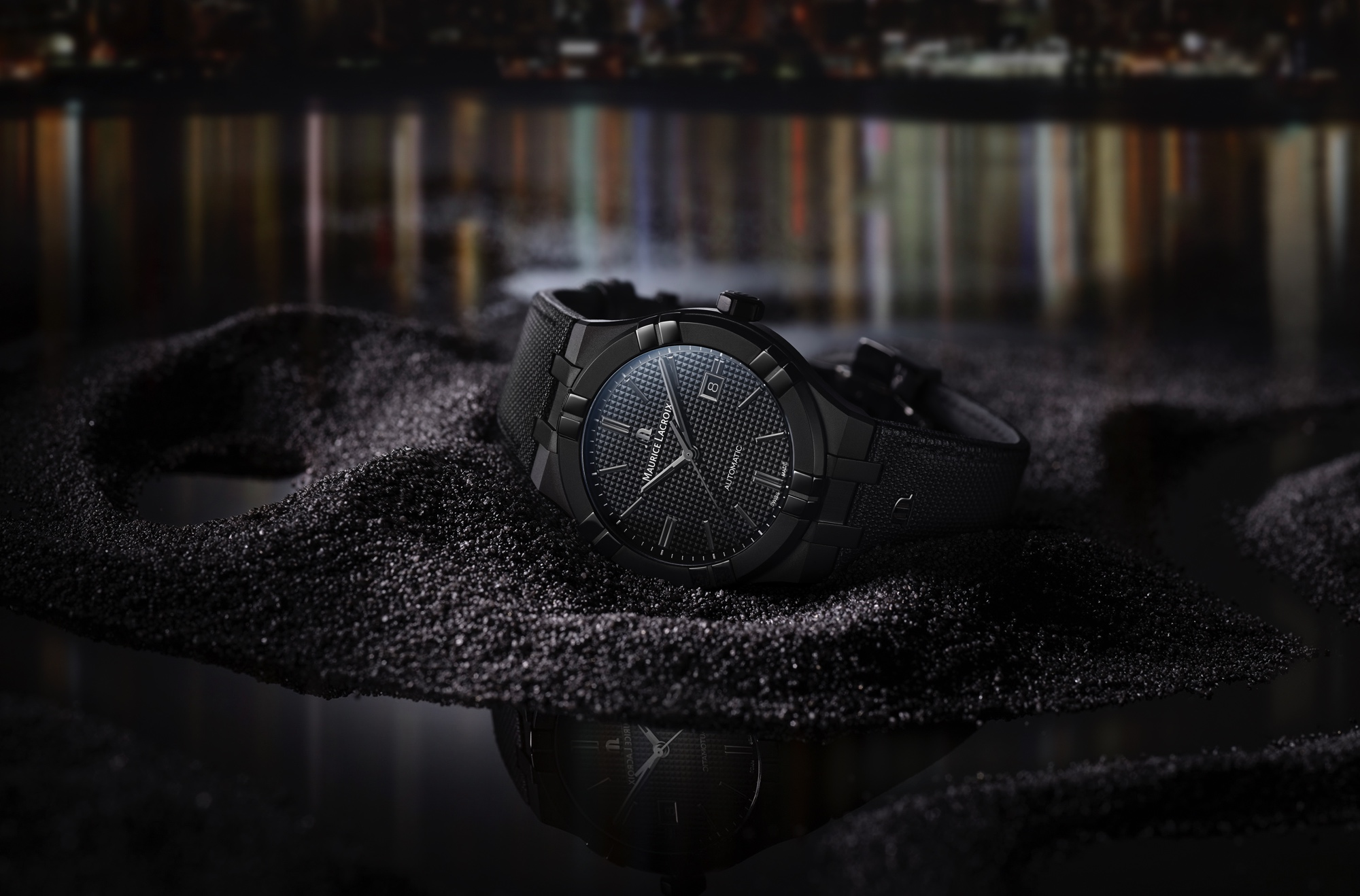 Aikon Automatic in black steel