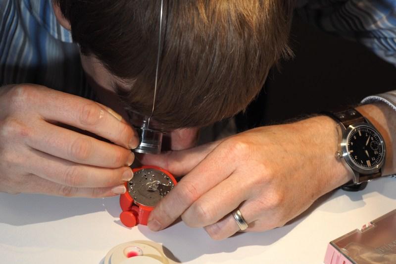 Jordan Ficklin oiling watch jewel