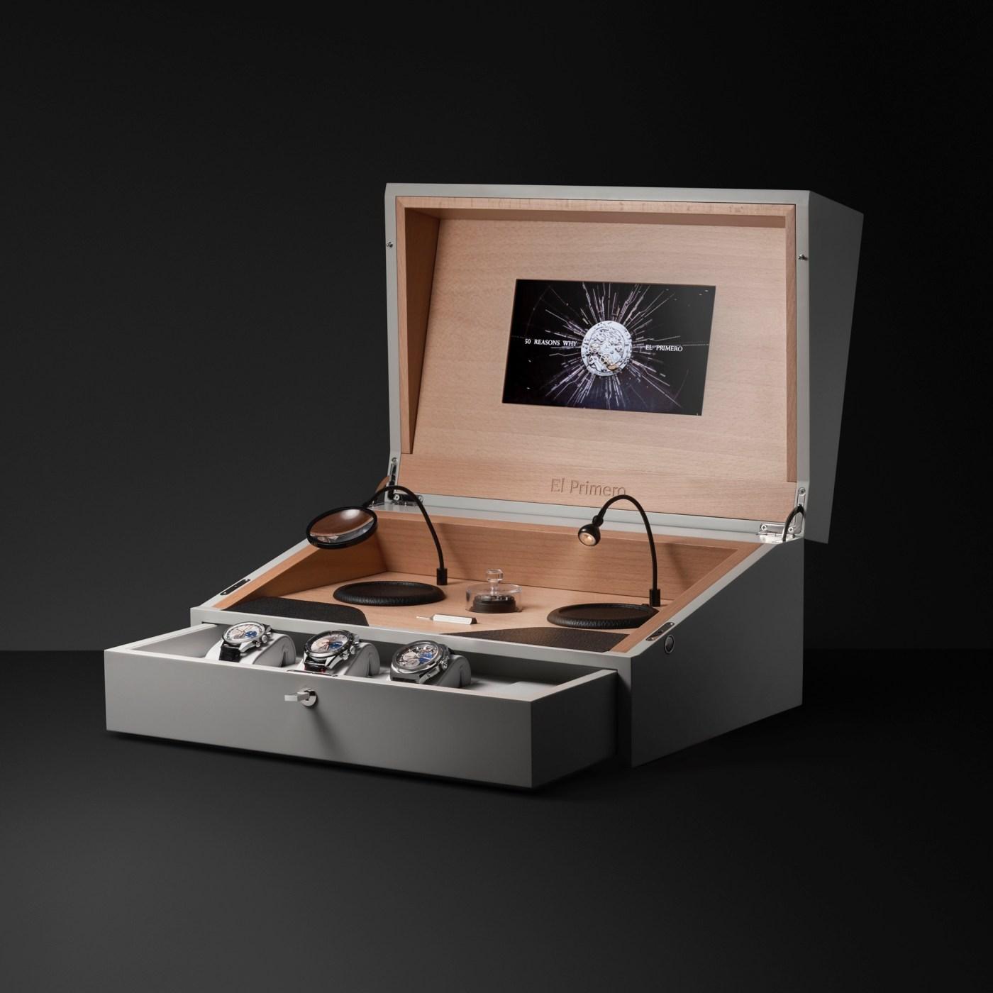 Zenith 50 Years of El Primero Anniversary Set box