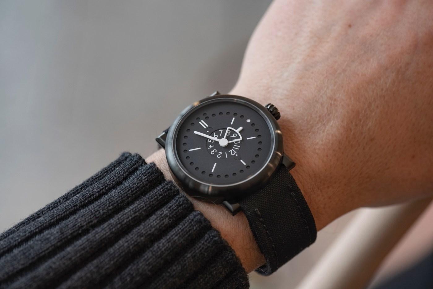Ochs und Junior Two Time Zones + Date PVD titanium wristshot