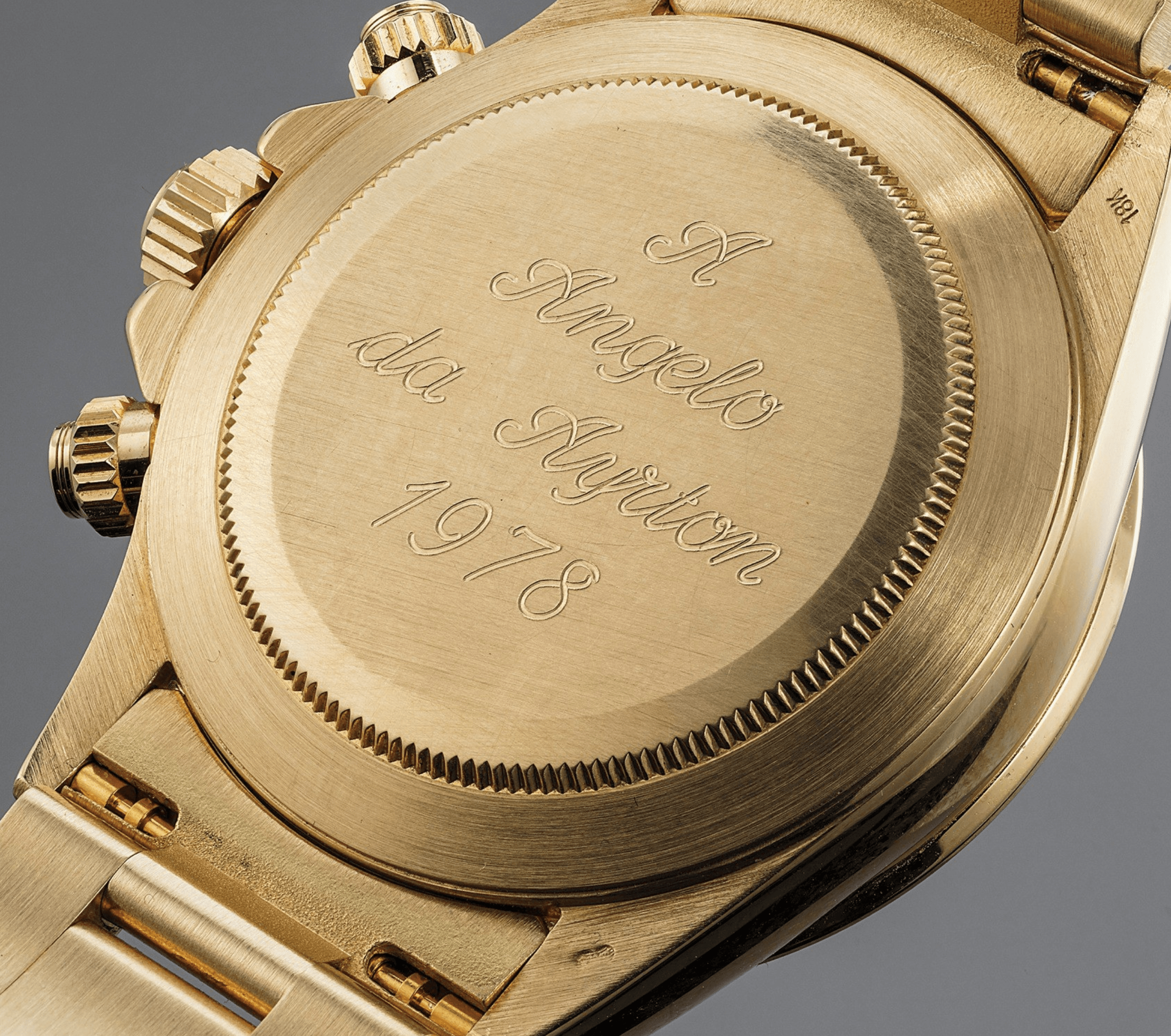 Rolex Daytona Ref 16528 Engraved With A Angelo Da Ayrton 1978