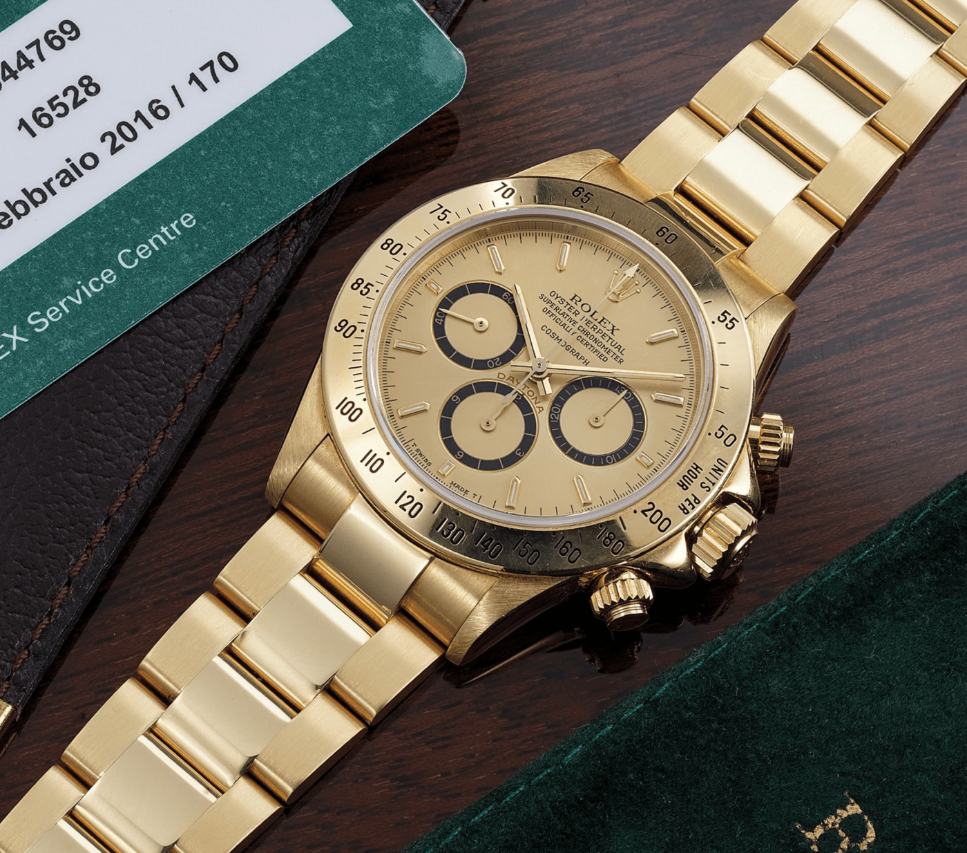 """Rolex Daytona Ref. 16528 engraved with """"to Angelo from Ayrton"""""""