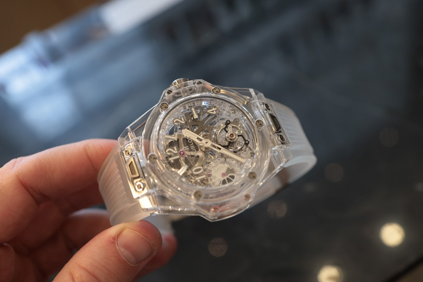 Hublot Big Bang Tourbillon 5 Days Sapphire, $148K