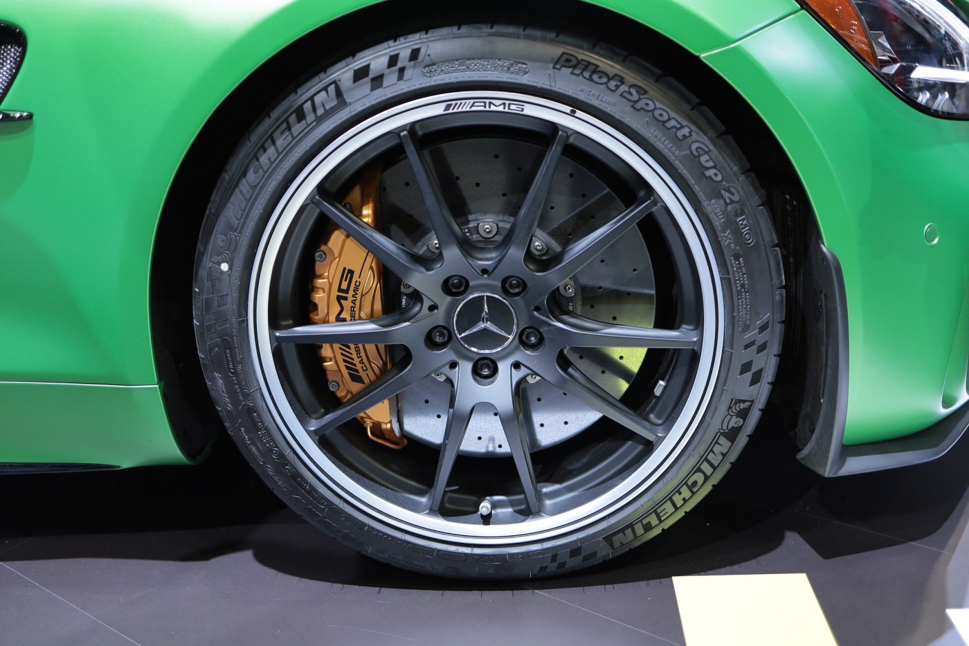 Mercedes AMG Wheel with carbon ceramic brakes