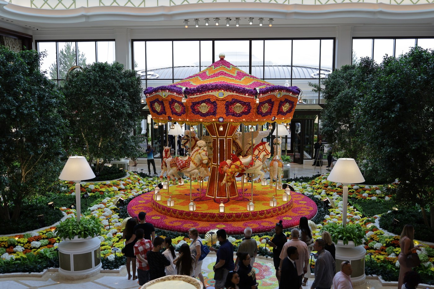 Encore's iconic floral carousel