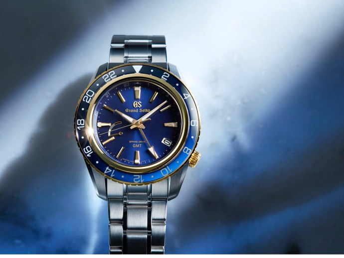 Spring Drive GMT in 18k Yellow Gold and Blue
