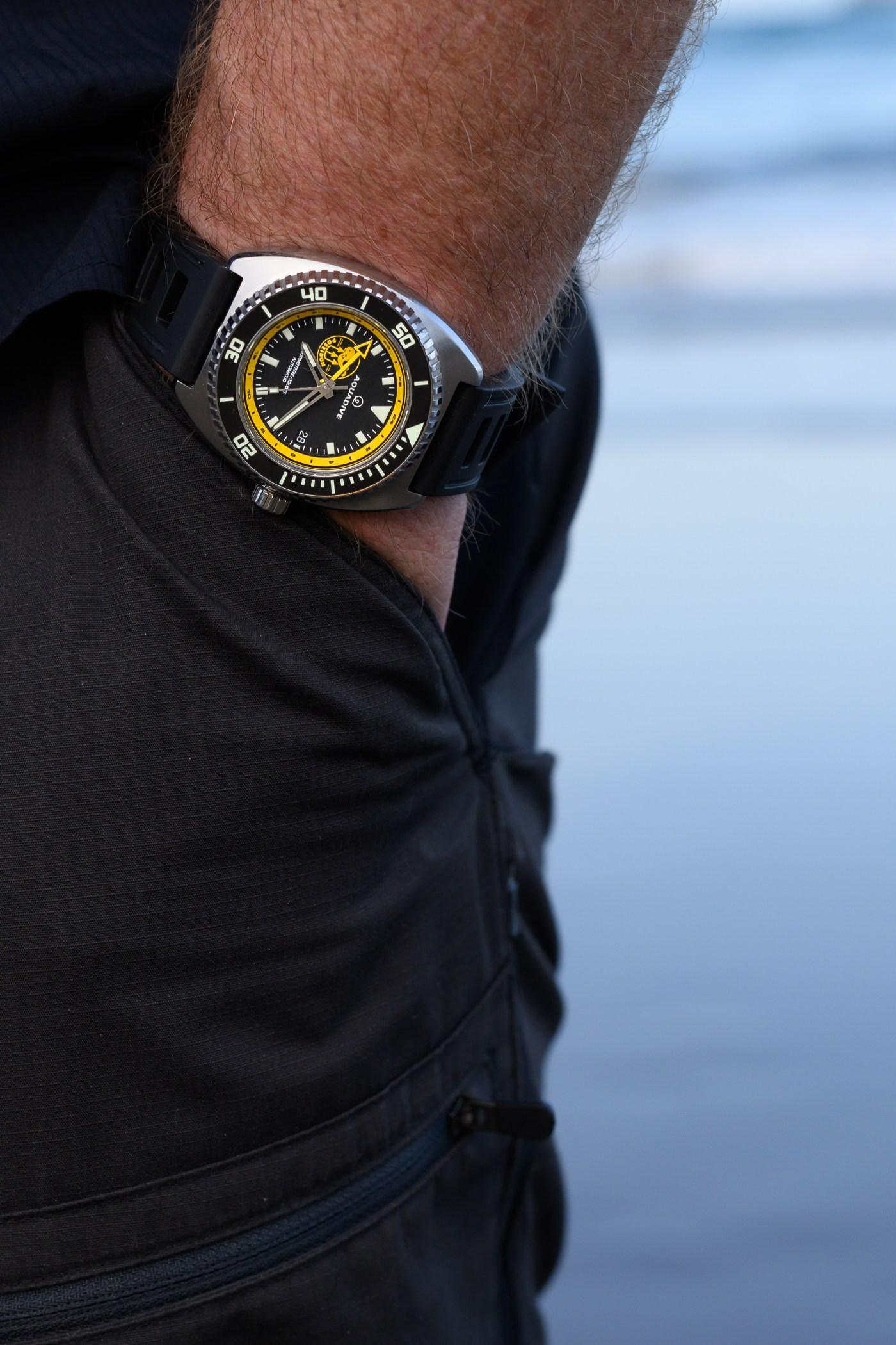 Aquadive Poseidon GMT wristshot