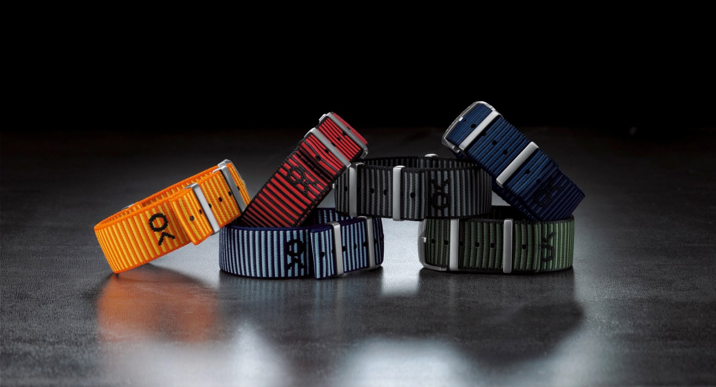 Outerknown Econyl yarn nato strap collection