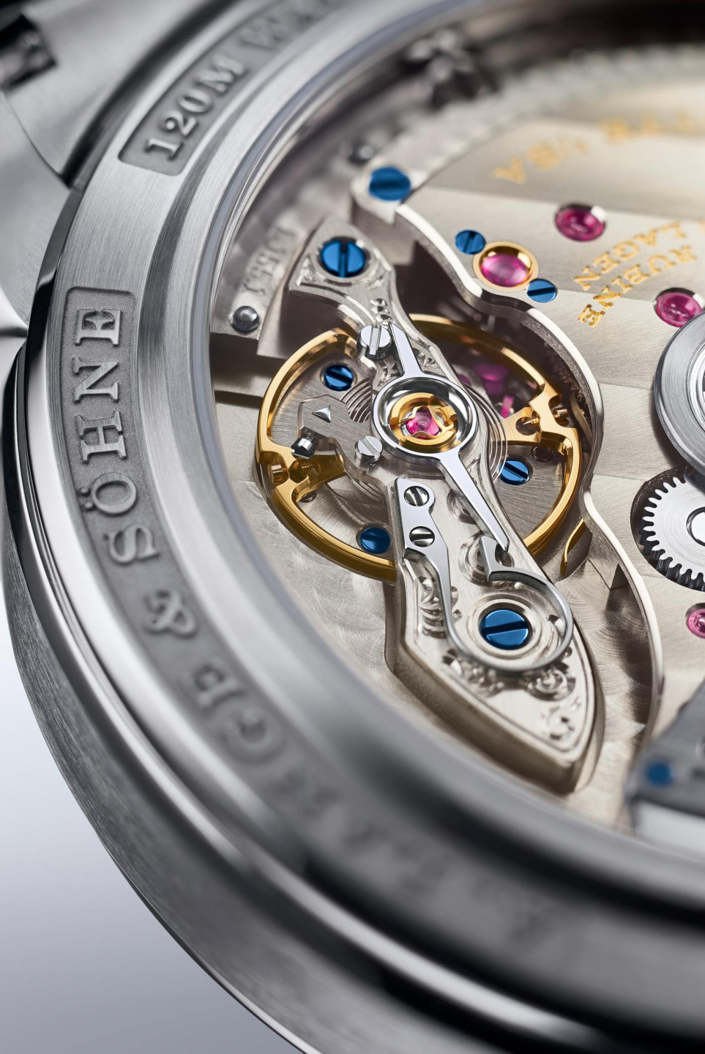 Lange caliber L155.1 Datomatic balance bridge