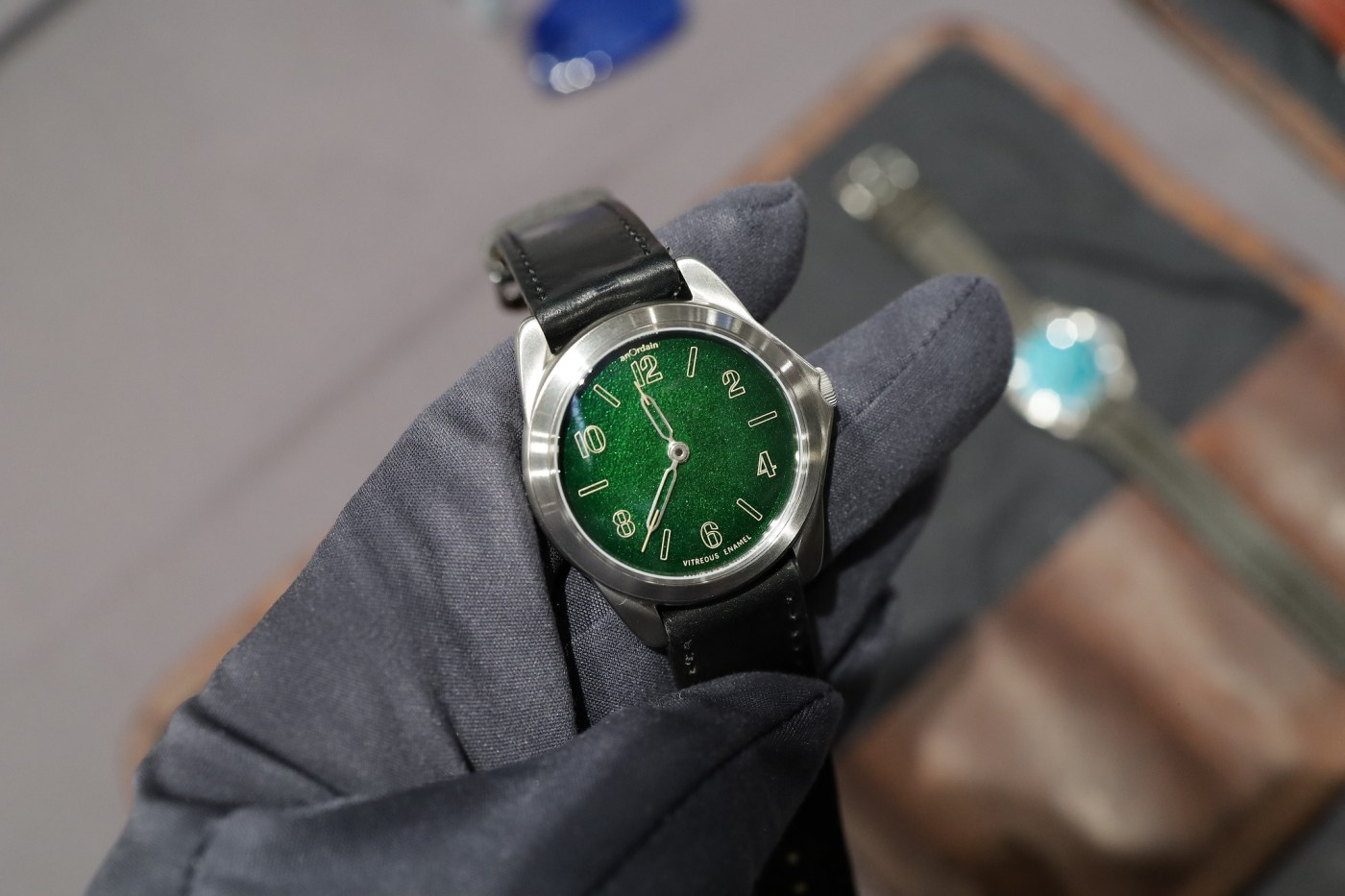 AnOrdain Model 2 Fumé with green enamel dial at Windup