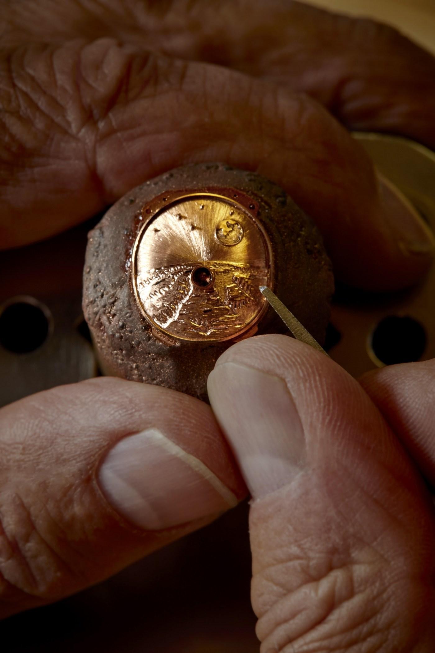 Richard Mille Pharrell Williams RM 52-05 dial engraving