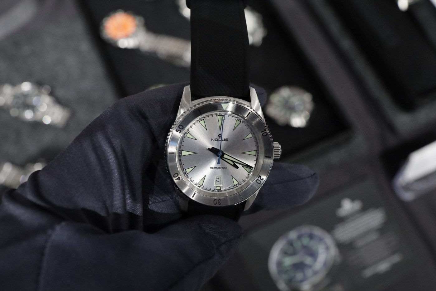 Nodus Retrospect II Silver Sky dive watch