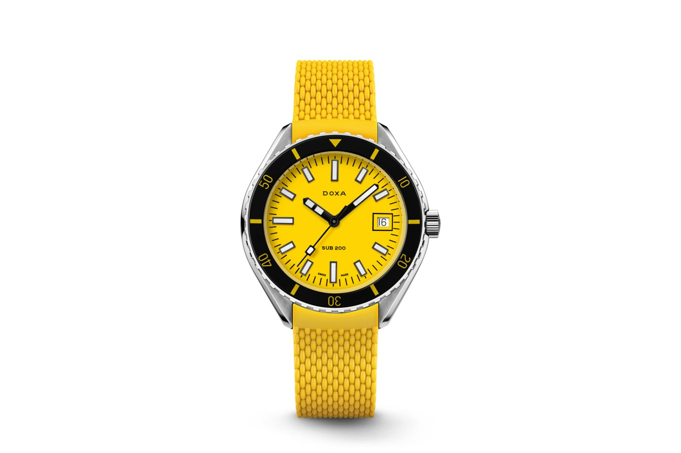 Doxa Sub 200 Yellow rubber strap