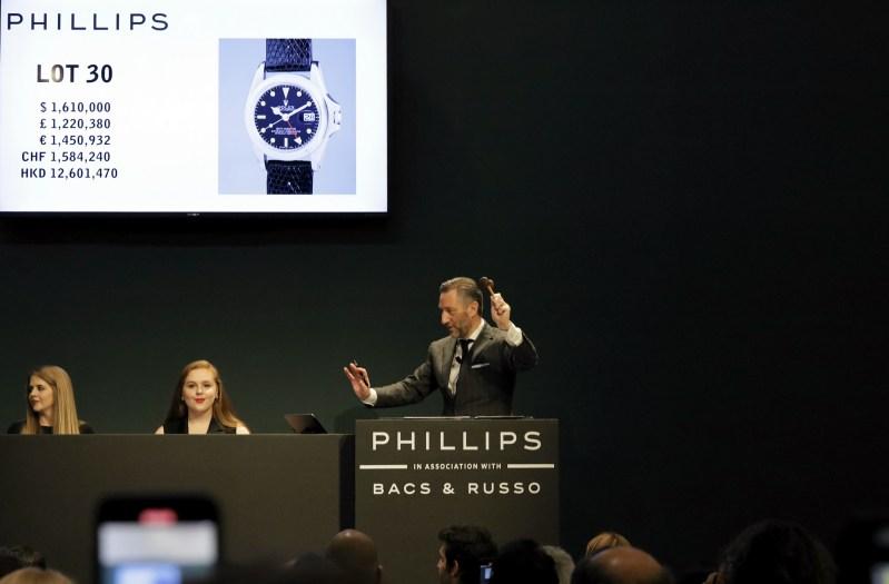 Game Changers Aurel Bacs Hammering Marlon Brando Rolex GMT Master Dec 2019