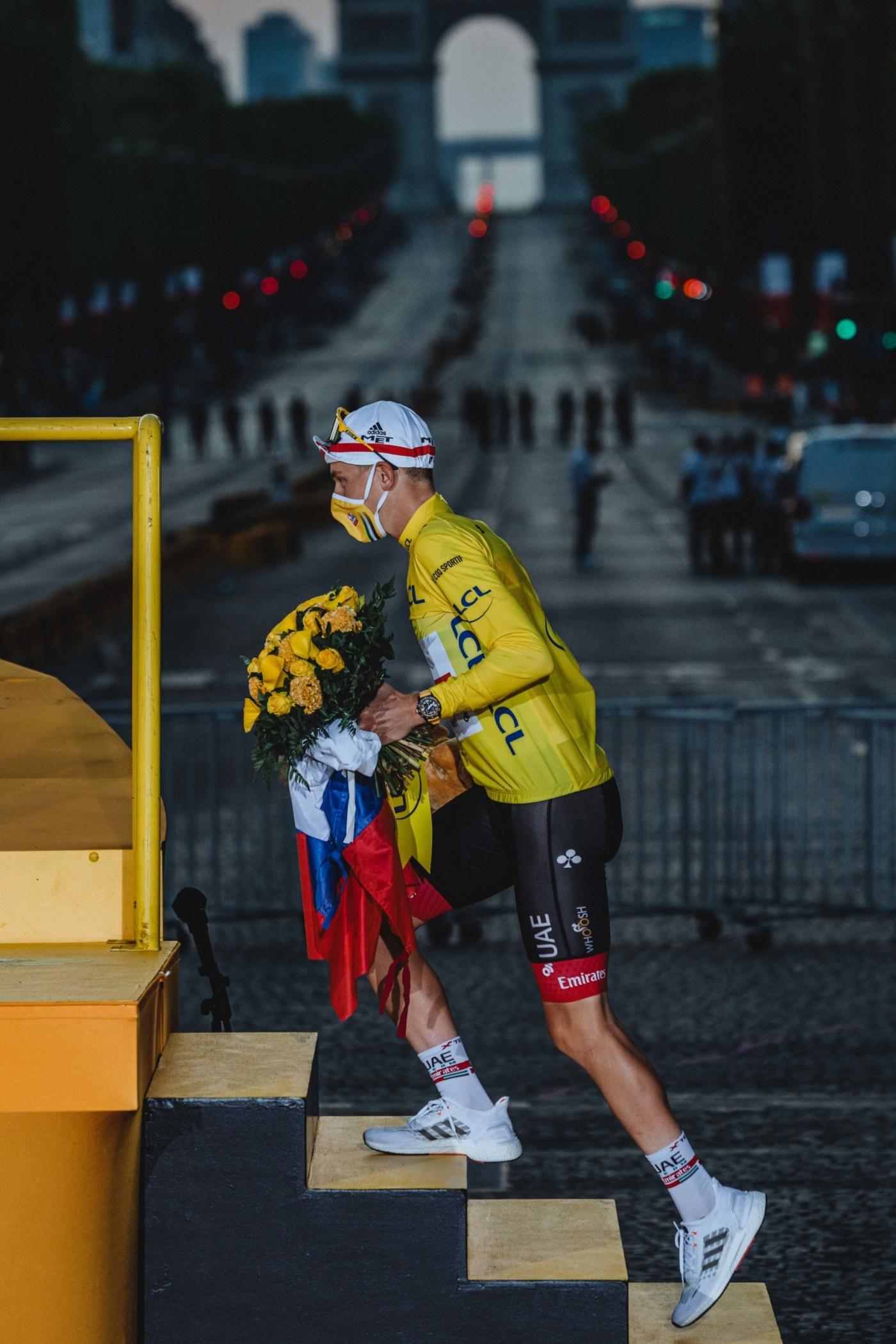 Breitling Ambassador Tadej Pogacar Wins Tour de France Wearing Endurance Pro