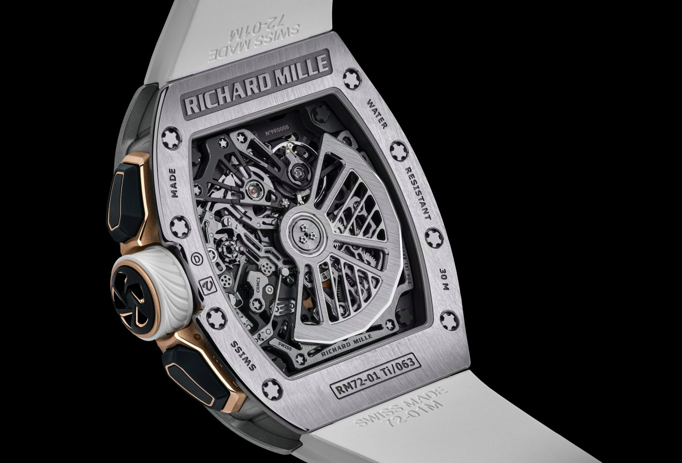 Richard Mille RM 72-01 In-House Chronograph caseback