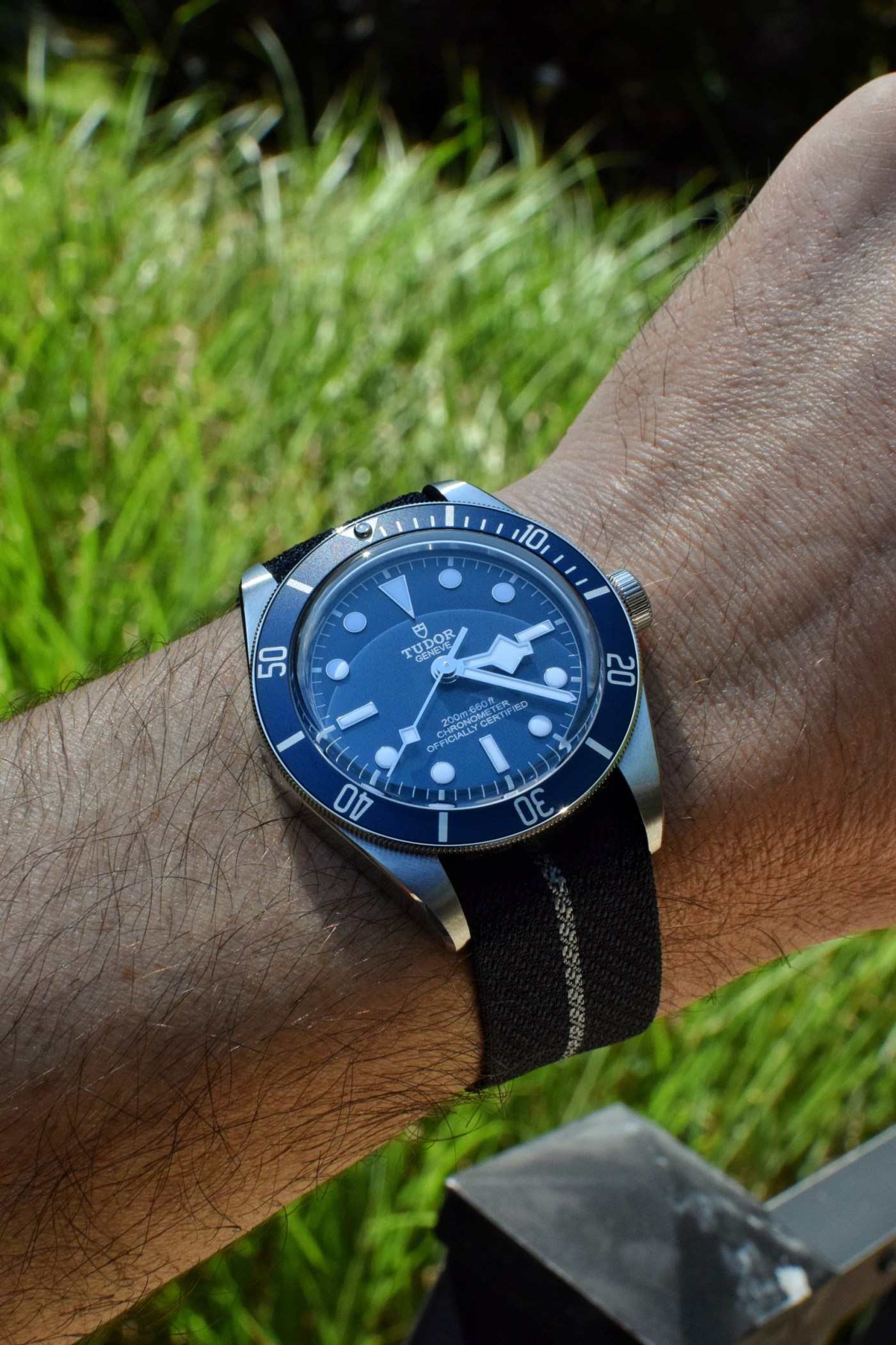 Tudor Black Bay Fifty-Eight Navy Blue Ref. 79030B wristshot