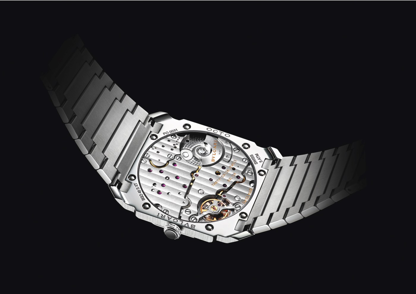 Bulgari Octo Finissimo S Steel Silvered Dial caseback