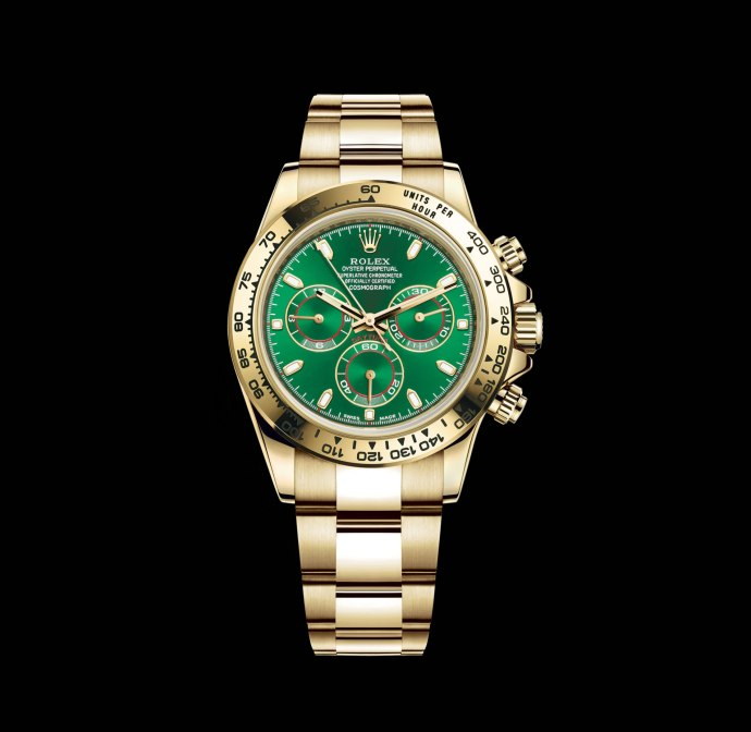 Rolex Daytona Yellow Gold-with Green Dial Ref. 116508