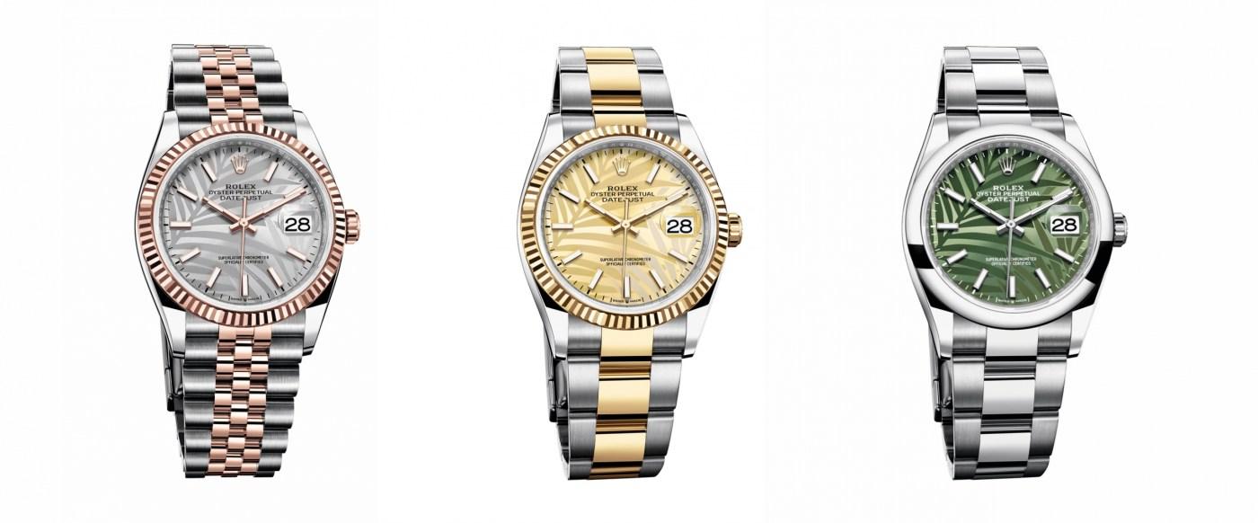 2021 Rolex Datejust Palm dials