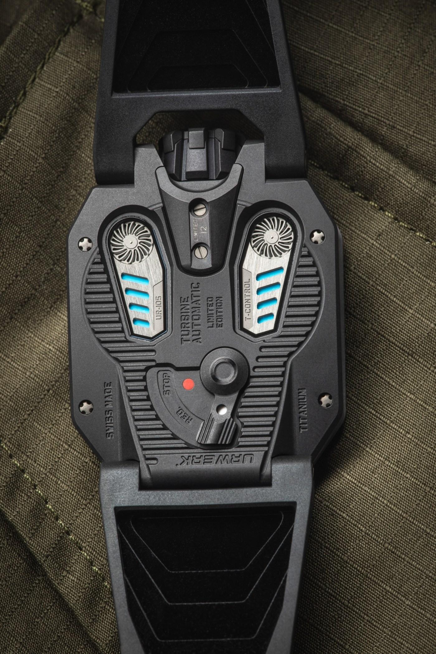 UR-105 TTH Tantalum Hull caseback